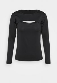 Trendyol - Long sleeved top - black - 4