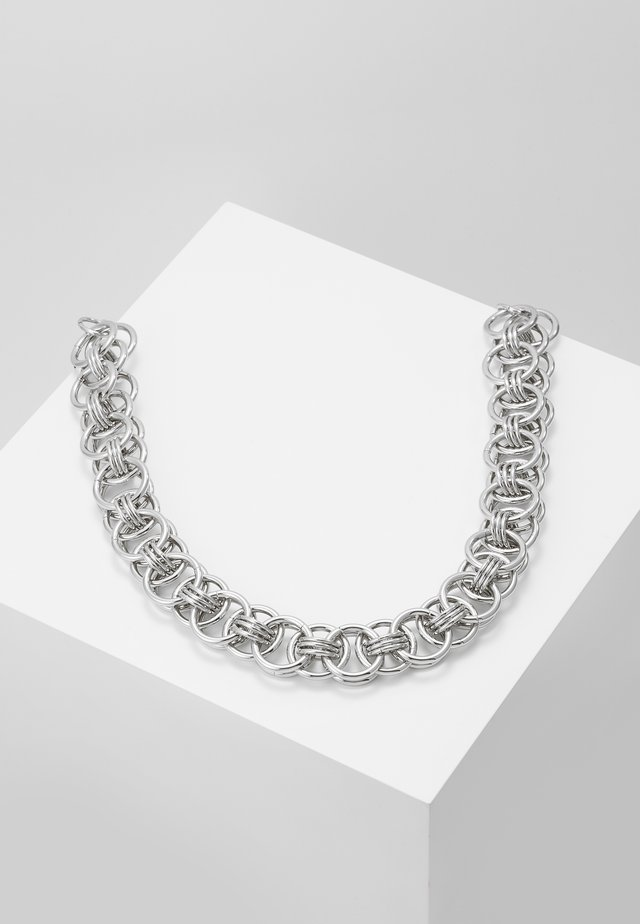 CHUNKY CHAIN NECK - Ketting - silver-coloured