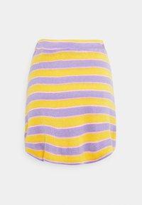NEW girl ORDER - STRIPE MINI SKIRT - Áčková sukně - multi - 1