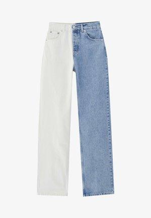 COLOUR-BLOCK - Straight leg jeans - light blue