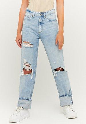 TALLY WEIJL HIGH WAIST - Straight leg jeans - light blue
