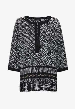 TUNIKA - Blouse - black/offwhite