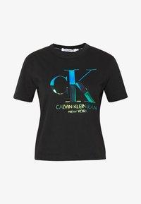 Calvin Klein Jeans - IRIDESCENT STRAIGHT TEE - Triko spotiskem - black - 4