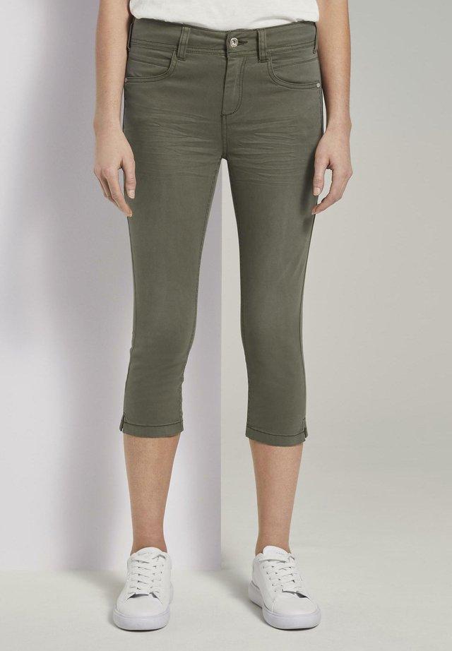 KATE CAPRI - Denim shorts - woodland green