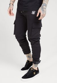SIKSILK - PANTS - Cargobroek - black - 0