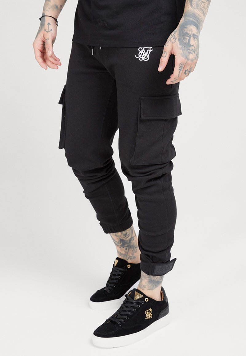 SIKSILK - PANTS - Cargobroek - black