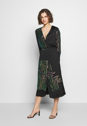 MAZE WRAP DRESS - Cocktail dress / Party dress - washed black/rose
