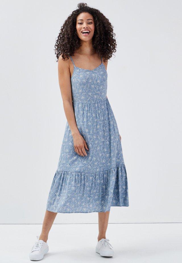 Freizeitkleid - bleu gris