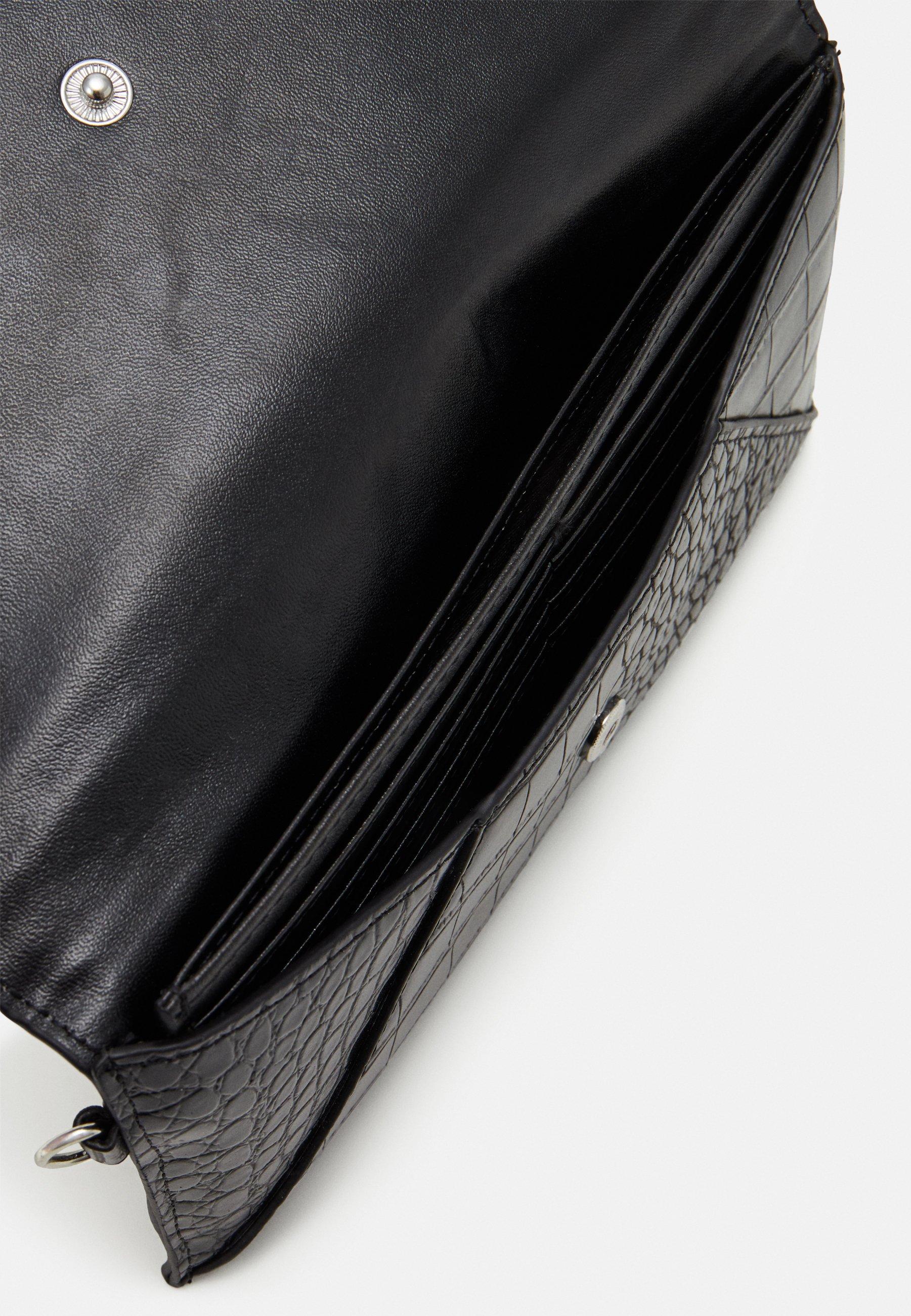 ALDO ELIZABETA - Lommebok - jet black/silver-coloured/svart Yfo1oW17bzptvAK