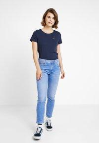 Tommy Jeans - SOFT TEE - Camiseta básica - black iris - 1