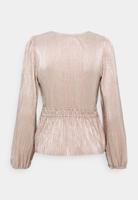 Abercrombie & Fitch - WRAP BLOUSE - Long sleeved top - rose gold - 1