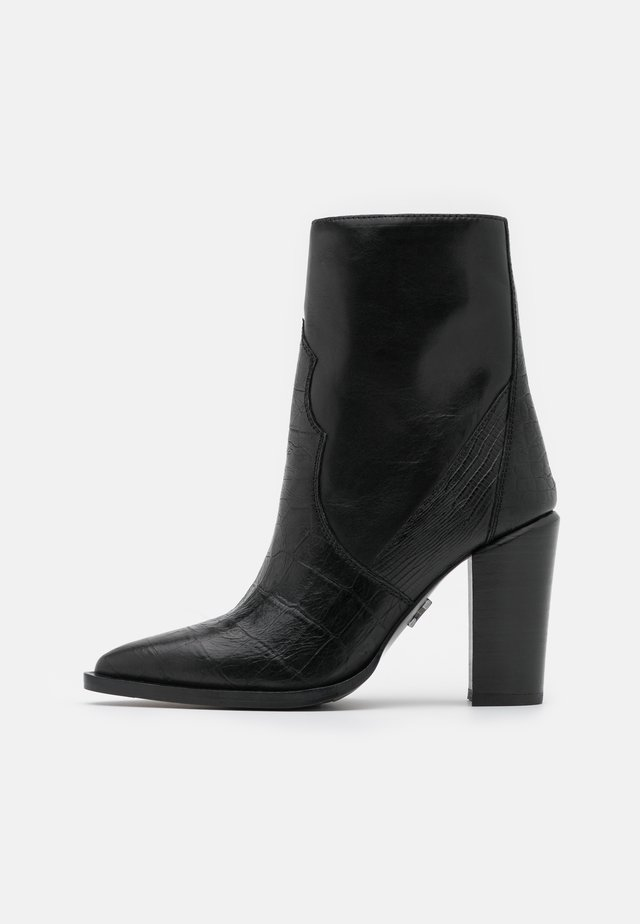 NEW AMERICANA - High heeled ankle boots - black