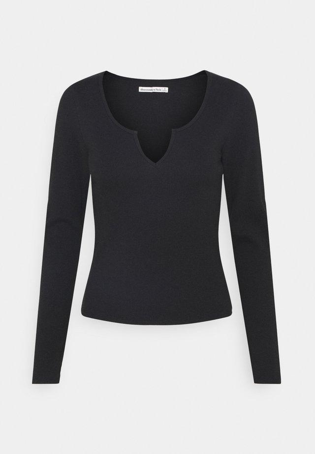 NOTCH NECK CHASE  - Långärmad tröja - black