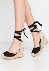 New Look - TRINIDAD - High heeled sandals - black - 0