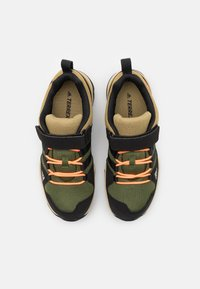 adidas Performance - TERREX AX2R UNISEX - Hiking shoes - wild pine/core black/screaming orange - 3