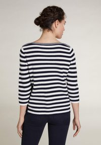 Oui - Jumper - dark blue white - 2