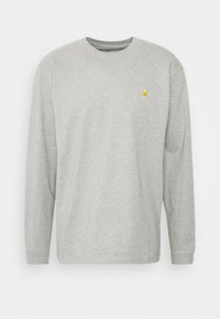 grey heather/gold