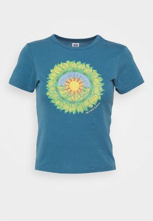 MOTHER EARTH BABY TEE - Camiseta estampada - blue