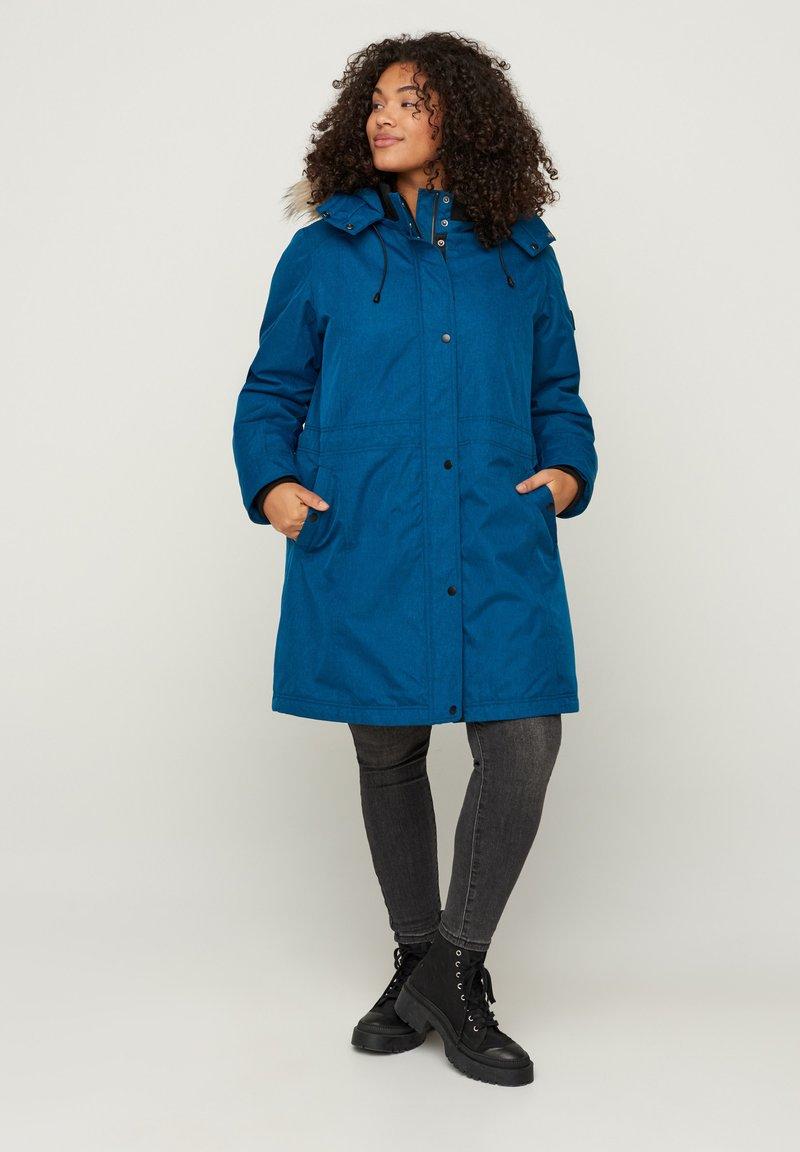 Zizzi - Winter coat - blue