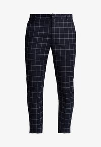New Look - GRID CHECK CROP - Trousers - navy - 3