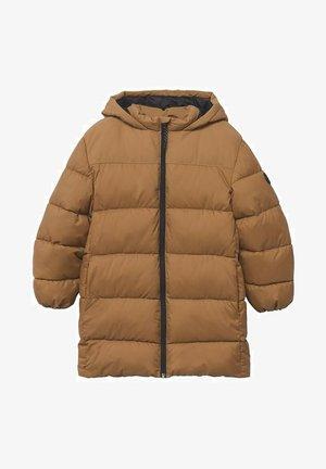 MIT KAPUZE - Winter coat - mittelbraun