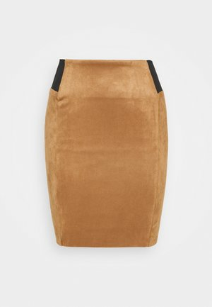 VMCAVA SKIRT - Miniskjørt - tobacco brown