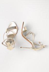 Pura Lopez - High heeled sandals - metal platin - 3