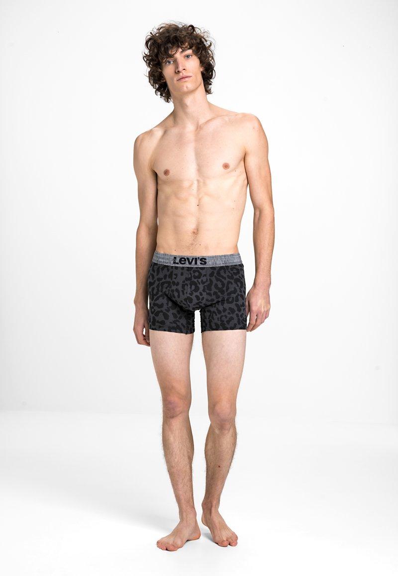 Levi's® - MEN GIFTBOX LEOPARD BOXER BRIEF 3 PACK - Pants - black