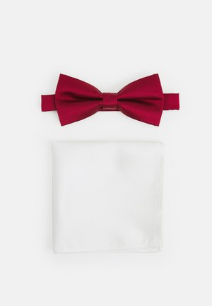 SET - Pocket square - dark red