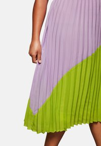 Sheego - A-line skirt - lime/lilac - 4