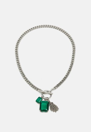 Necklace - rhod/green