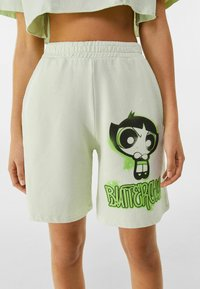 Bershka - POWERPUFF GIRLS - Short - green - 0
