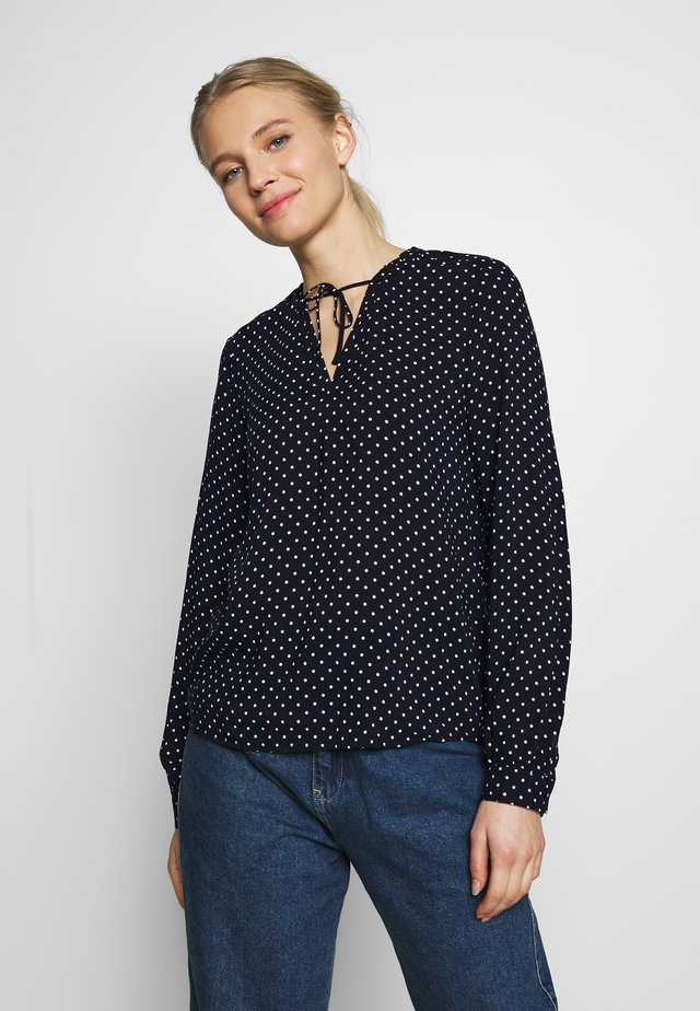 DOT BLOUSE WITH TIE DETAIL - Blouse - summer night