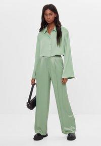 Bershka - Button-down blouse - green - 1