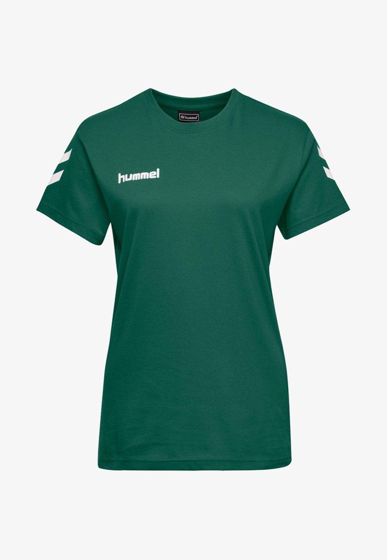 Hummel - GO WOMAN - T-shirts med print - evergreen