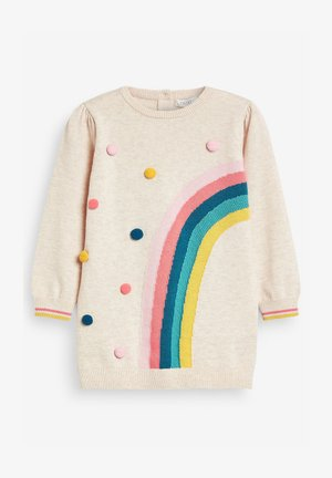 RAINBOW POM  - Jumper dress - off-white