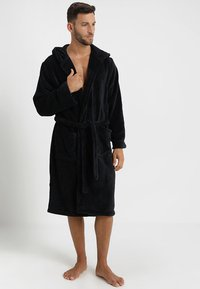 YOURTURN - Dressing gown - black - 1