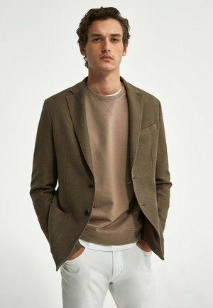 MIT STRUKTURMUSTER  - Blazer jacket - beige