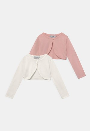 BOLERO 2 PACK - Strickjacke - rose/ecru
