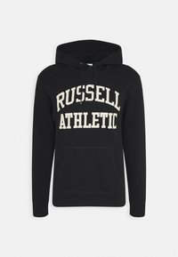 Russell Athletic Eagle R - CORE TACKLE TWILL PULL OVER HOODY UNISEX - Hoodie - black - 0