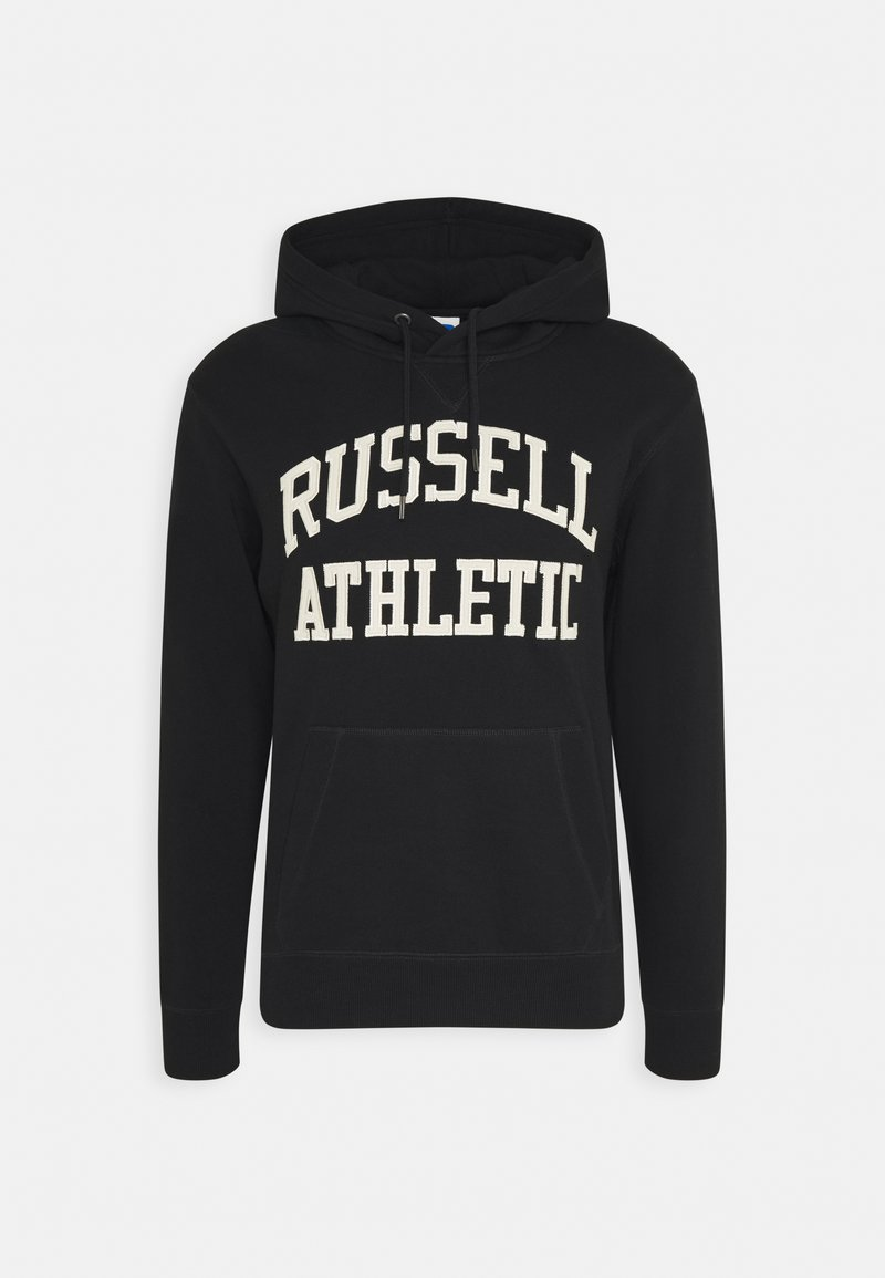 Russell Athletic Eagle R - CORE TACKLE TWILL PULL OVER HOODY UNISEX - Hoodie - black