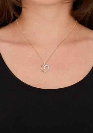 MIT ANHÄNGER HERZ - Necklace - rosefarben