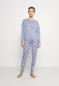 Women Secret - LONG SLEEVES LONG PANT - Pyžamová sada - blues - 0