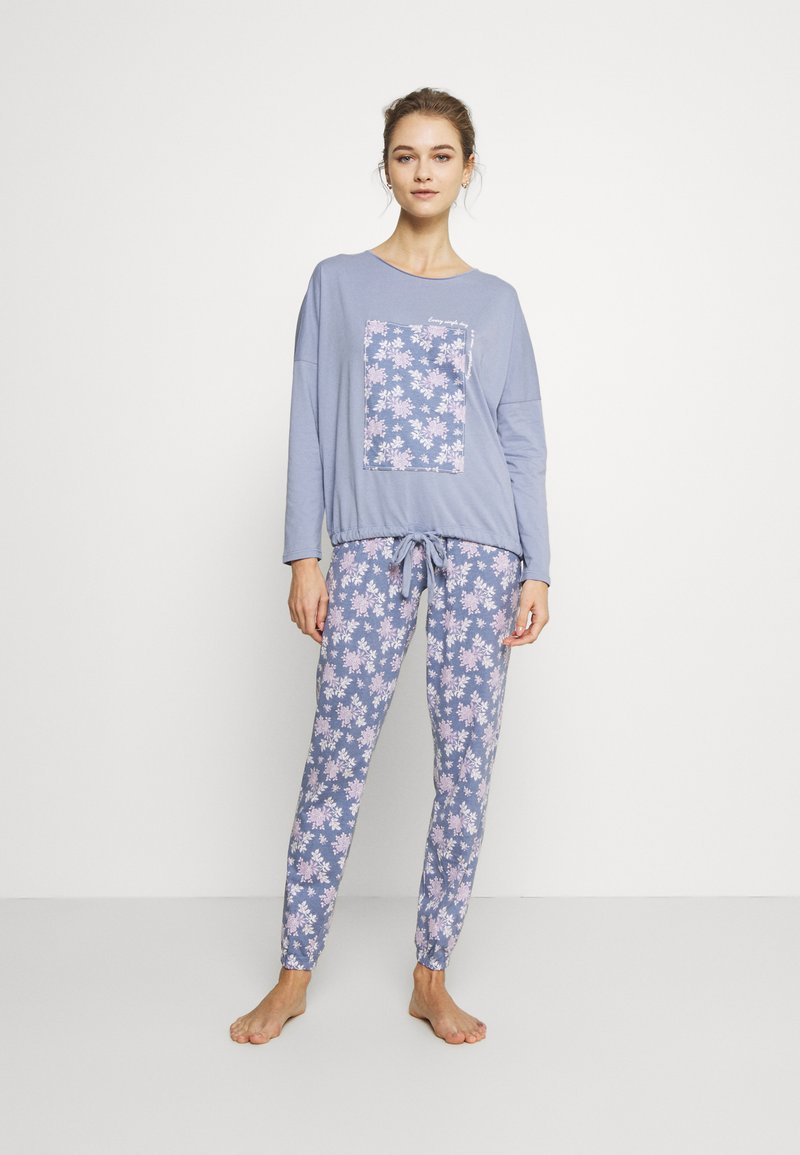 Women Secret - LONG SLEEVES LONG PANT - Pyžamová sada - blues