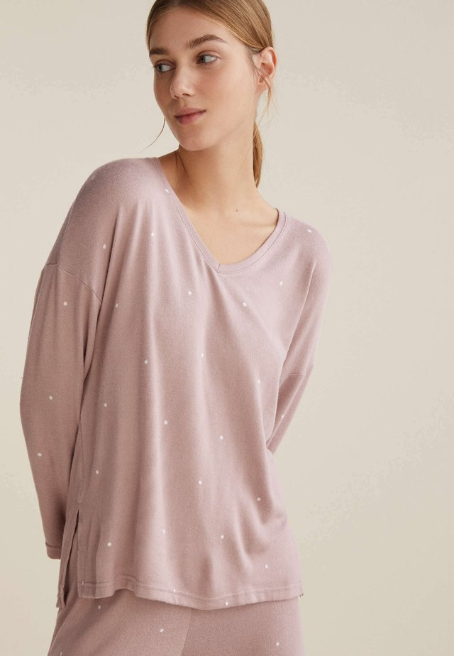 POLKA DOT  - Maglia del pigiama - mauve