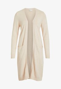 Vila - VIRIL LONG CARDIGAN  - Cardigan - beige - 5
