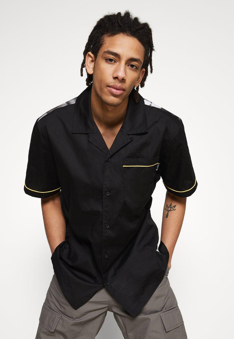 HUF - CRAZY WOVEN  - Shirt - black