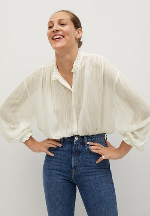 YEVA - Button-down blouse - off white