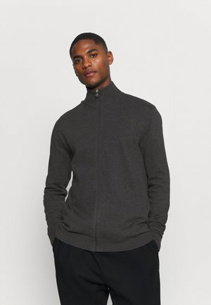 SLHBERG FULL ZIP  - Cardigan - antracit/melange