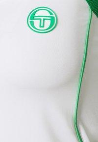 Sergio Tacchini - TANK WOMAN - Top - blanc/island green - 2